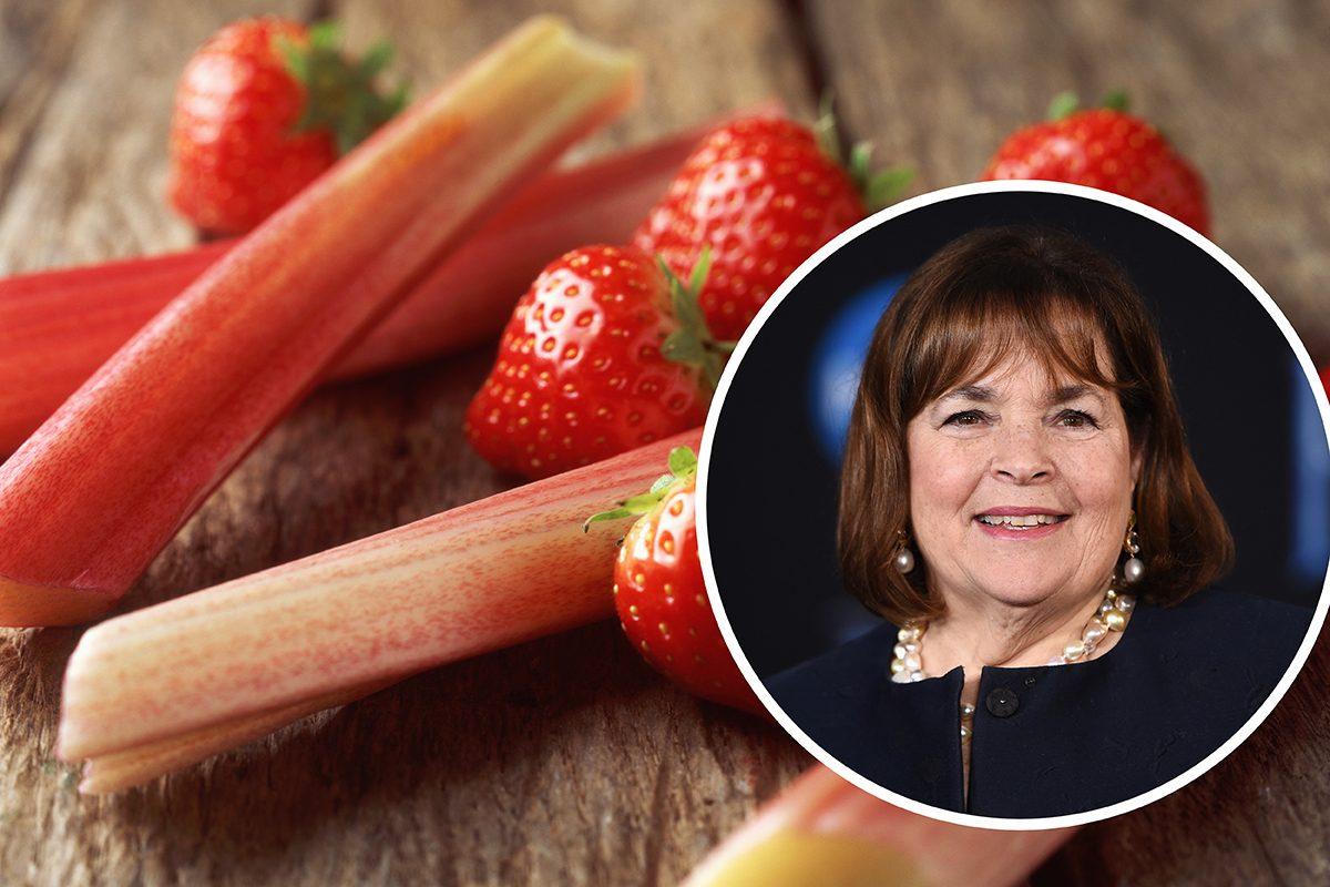 Ina Garten and strawberries and rhubarb