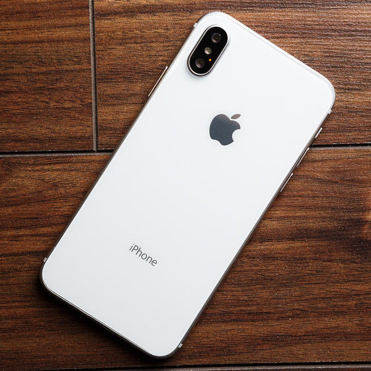 iphone above wooden