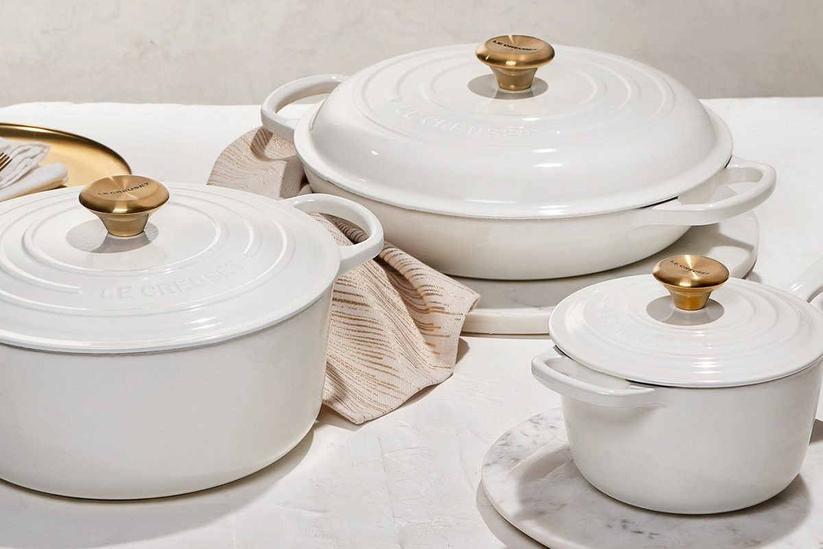 Le Creuset new gold knob collection