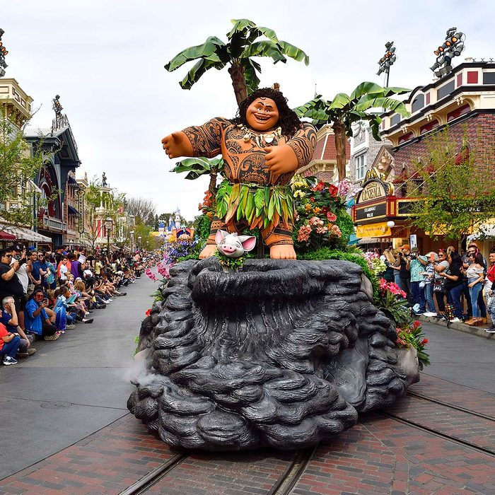 ANAHEIM, CA - FEBRUARY 27: Maui, from Moana, during the new Magic Happens Parade on Main Street U.S.A. inside Disneyland in Anaheim, CA, on Thursday, Feb 27, 2020. (Photo by Jeff Gritchen, Orange County Register/SCNG)