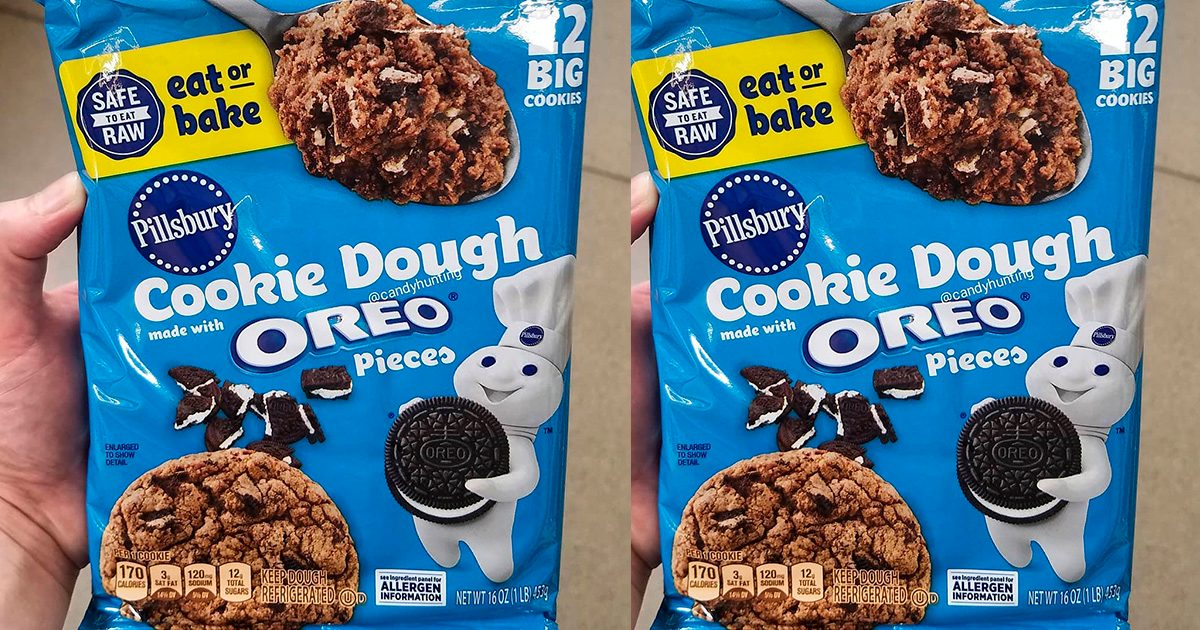 Pillsbury's NEW Cookie Dough Is Packed with Oreo Pieces