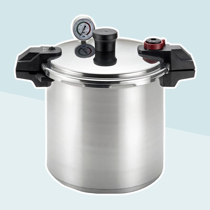 T-fal Pressure Cooker, Pressure Canner with Pressure Control, 3 PSI Settings, 22 Quart, Silver - 7114000511