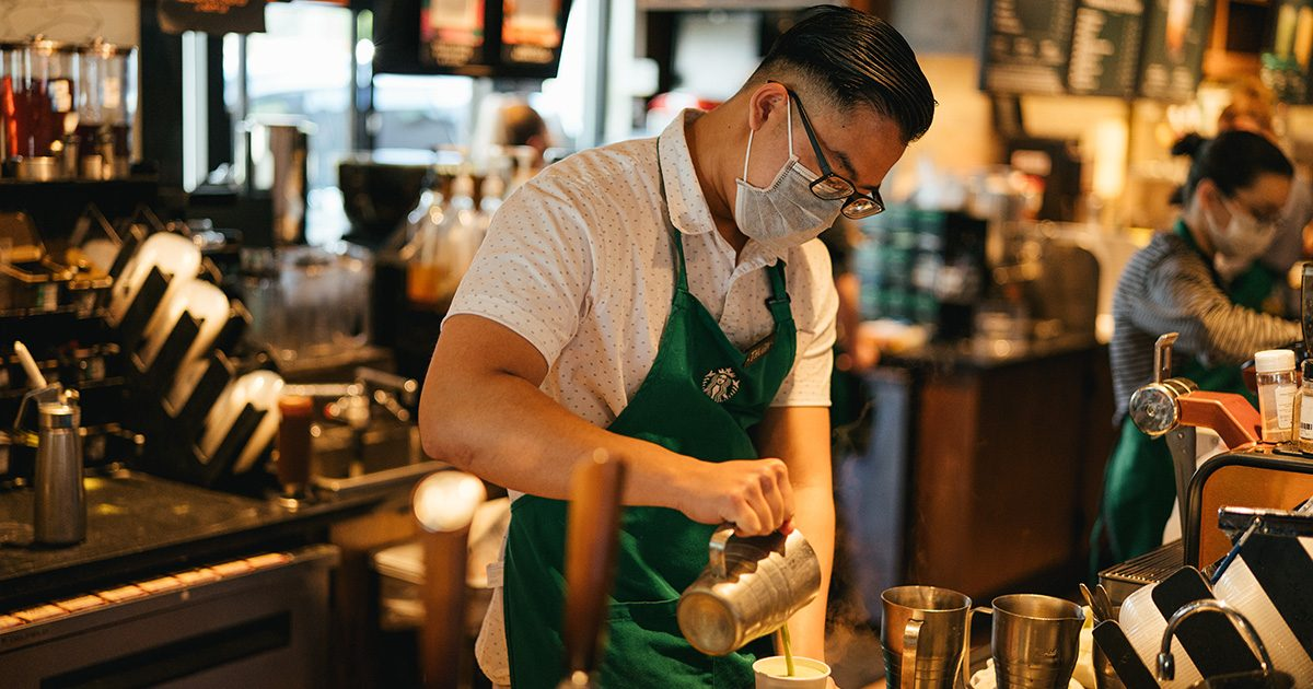 Starbucks Is Requiring Customers to Wear Face Masks in Stores