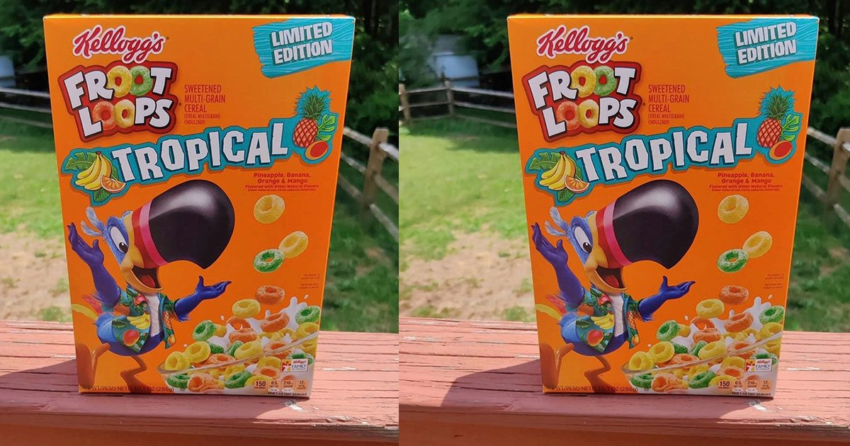 NEW Tropical Froot Loops Have Pineapple, Banana, Orange and Mango Flavors—and They Taste Like Vacation