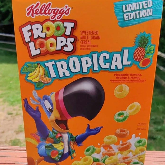 New Tropical Froot Loops Have Pineapple, Banana, Orange and Mango Flavors