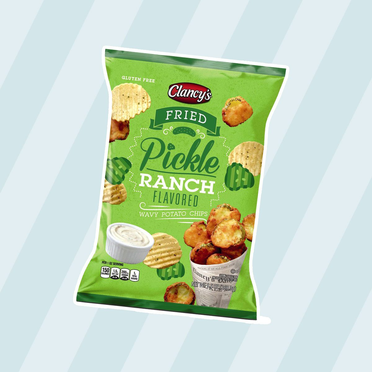 Clancy's Fried Pickle Ranch Wavy Potato Chips