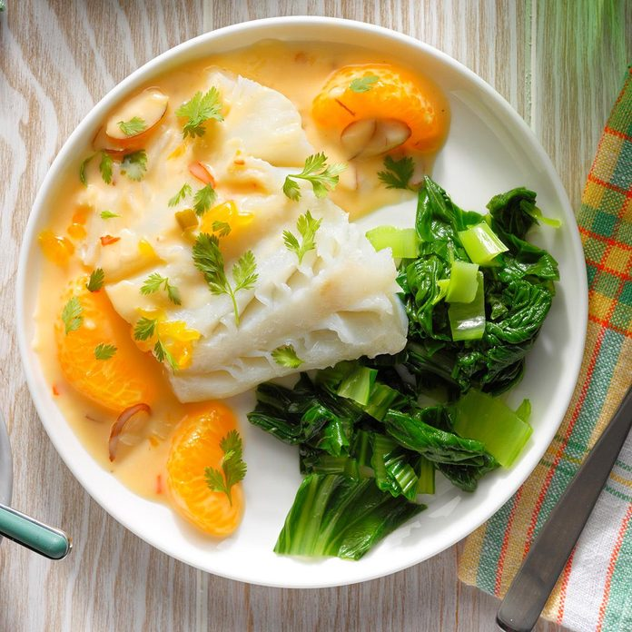 Citrus Coconut Steamed Cod