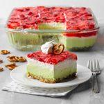 Strawberry Lime Pretzel Salad