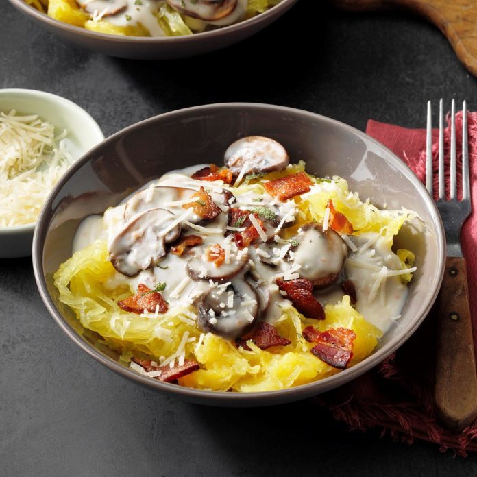 Mushroom & Bacon Spaghetti Squash Bowl