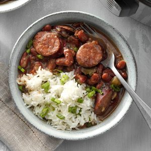 Pressure-Cooker Andouille Red Beans and Rice