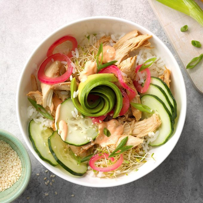 Quick And Easy Chicken Poke Bowl Exps Tohdj21 251550 E08 06 4b 5