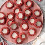 Red Velvet Thumbprint Cookies