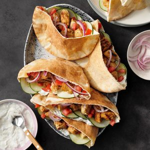 Chicken Souvlaki Pitas