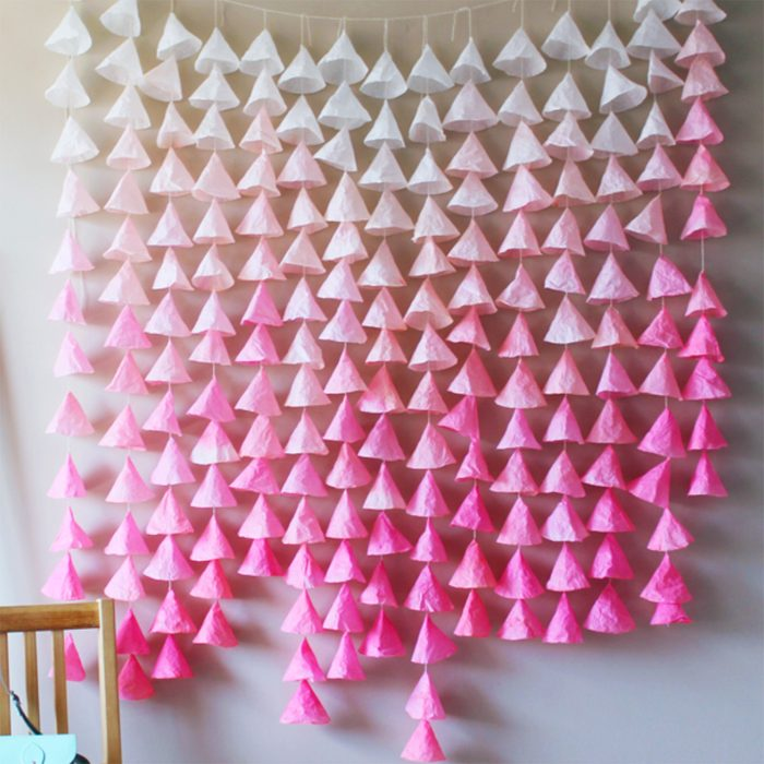 Dreamy DIY Ombré Paper Backdrop
