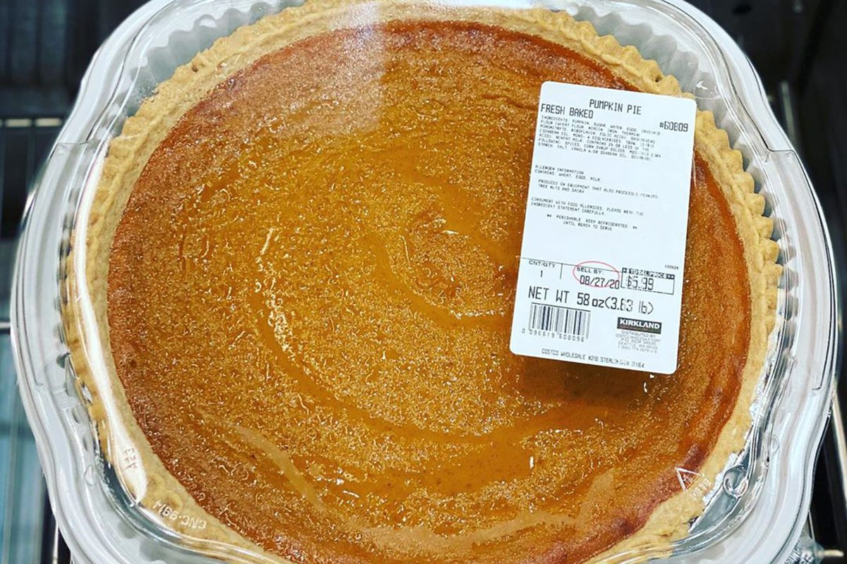 Costco four pound pumpkin pie