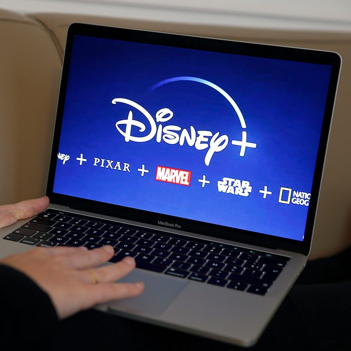 PARIS, FRANCE - NOVEMBER 08: In this photo illustration, the Disney + logo is displayed on the screen of an Apple MacBook Pro computer on November 08, 2019 in Paris, France. The Walt Disney Company will launch its streaming service (Svod) Disney plus in the United States on November 12, 2019, for Europe, it will be necessary to wait until the beginning of the year 2020. (Photo by Chesnot/Getty Images)