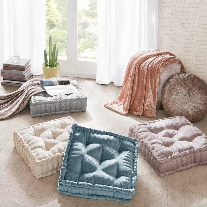 Diah Chenille Square Floor Pillow Cushion