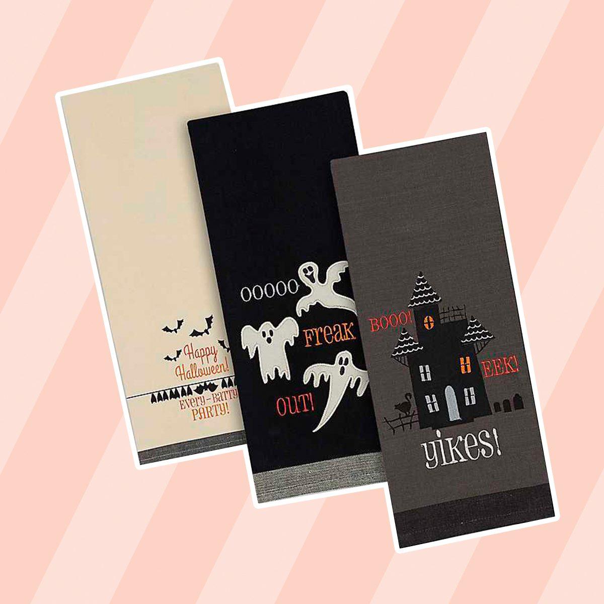 Halloween Kitchen Towels, Set of 3