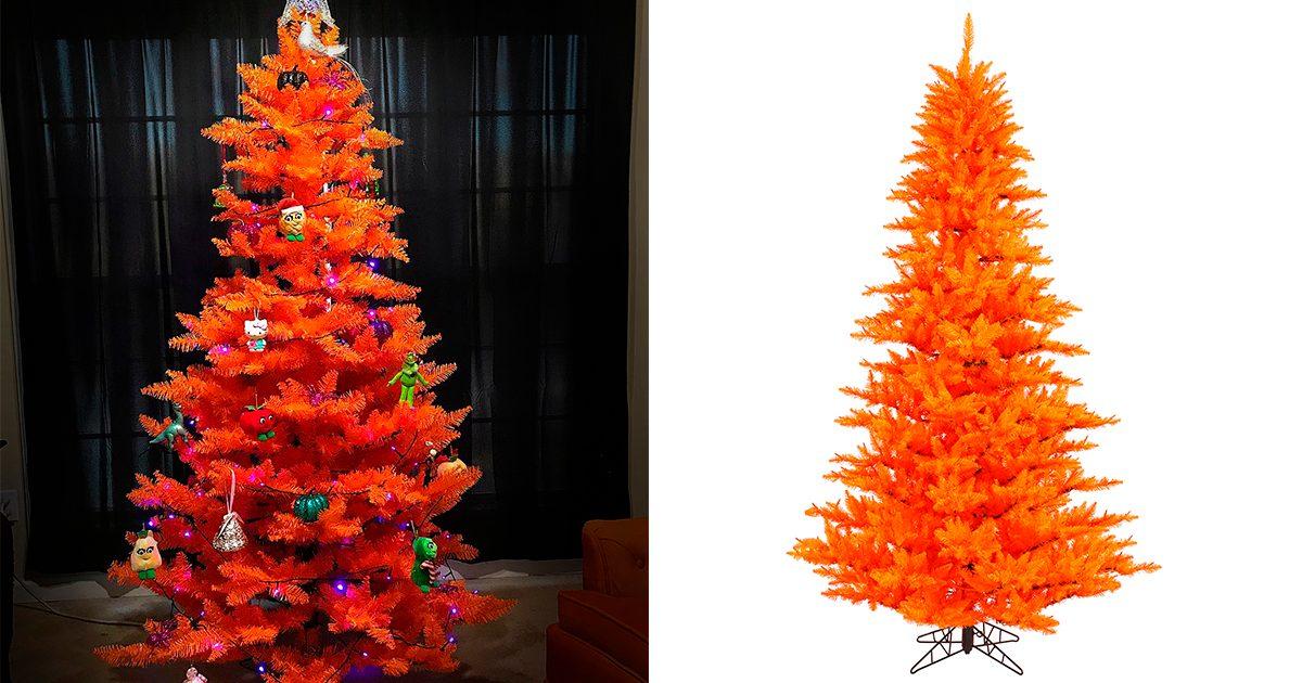 Walmart Is Selling the CUTEST Orange Halloween Christmas Trees, Perfect for Spooky Season