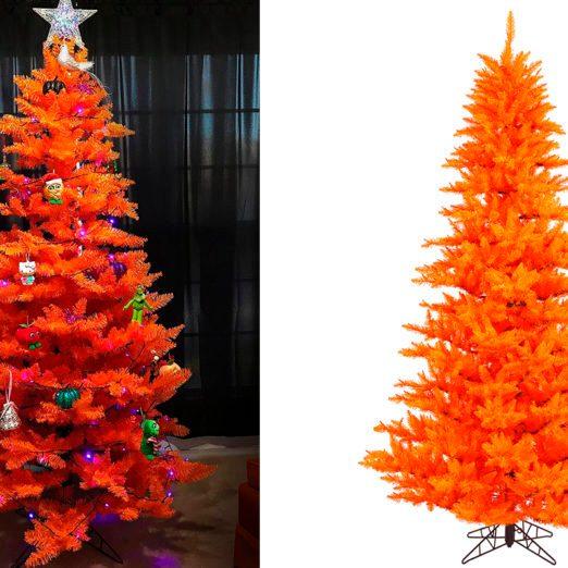 Walmart Is Selling Bright Orange Halloween Christmas Trees Perfect for Spooky Season