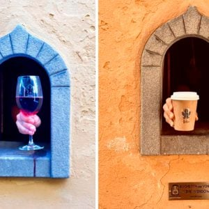 Italy Is Now Social Distancing with Help from 'Wine Windows'