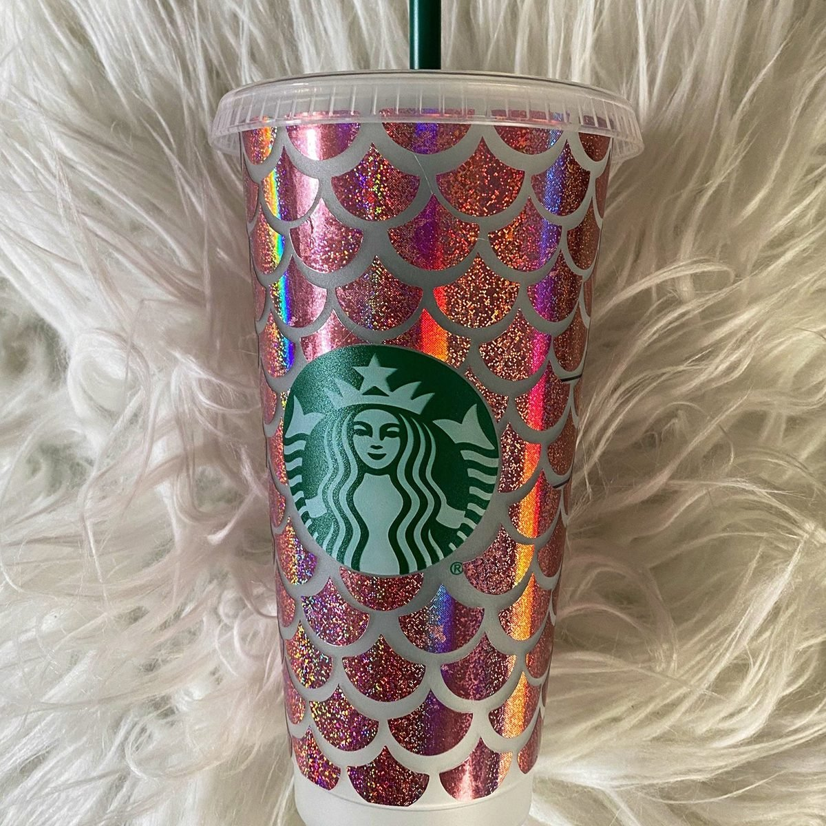Mermaid Starbucks Cold Cup| Personalized| Full Wrap|Gift for Ice Coffee Lover|Birthday Gift for Best Friend