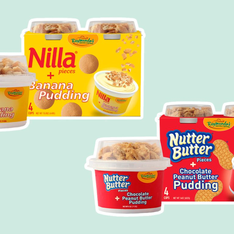 NILLA® PIECES + BANANA PUDDING and NUTTER BUTTER® PIECES + CHOCOLATE PEANUT BUTTER PUDDING