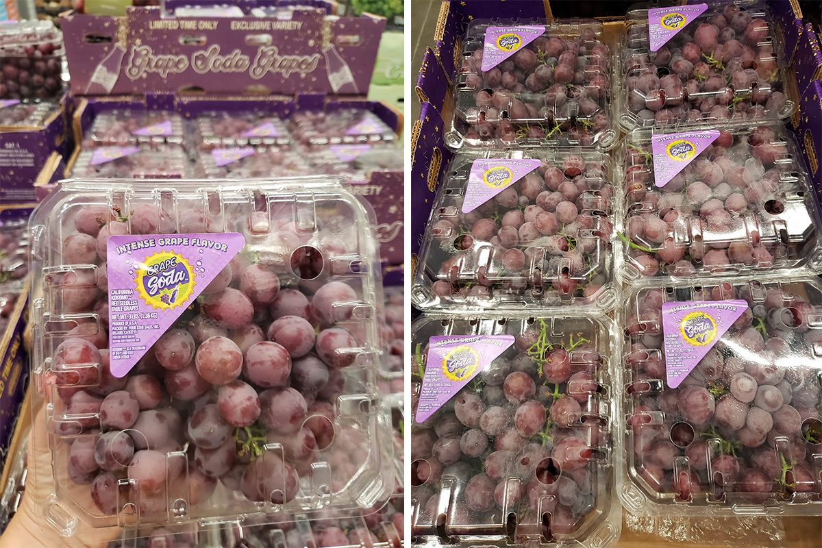 Sam's Club Grape Soda grapes