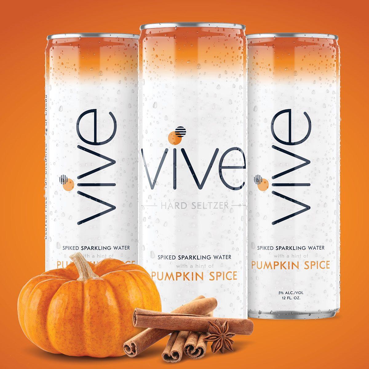 VIVE Hard Seltzer Pumpkin Spice six-packs square