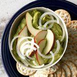 Apple Guacamole with White Onion
