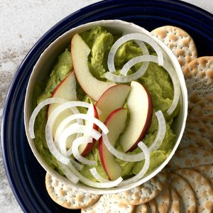 Apple Guacamole with White Onion