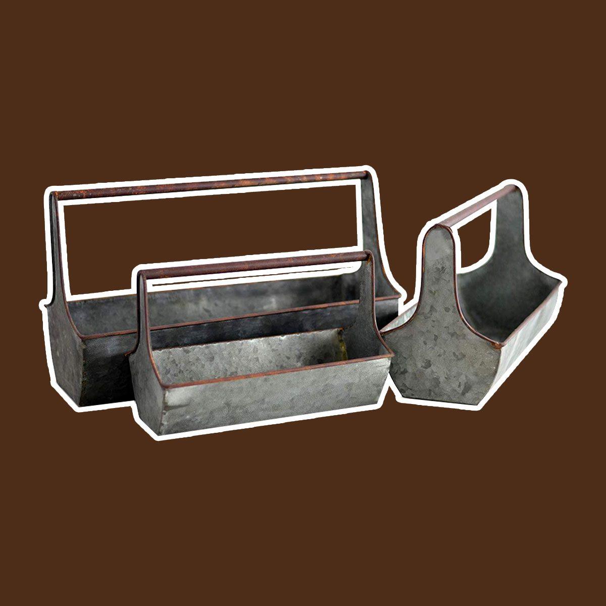 Galvanized Metal Planters