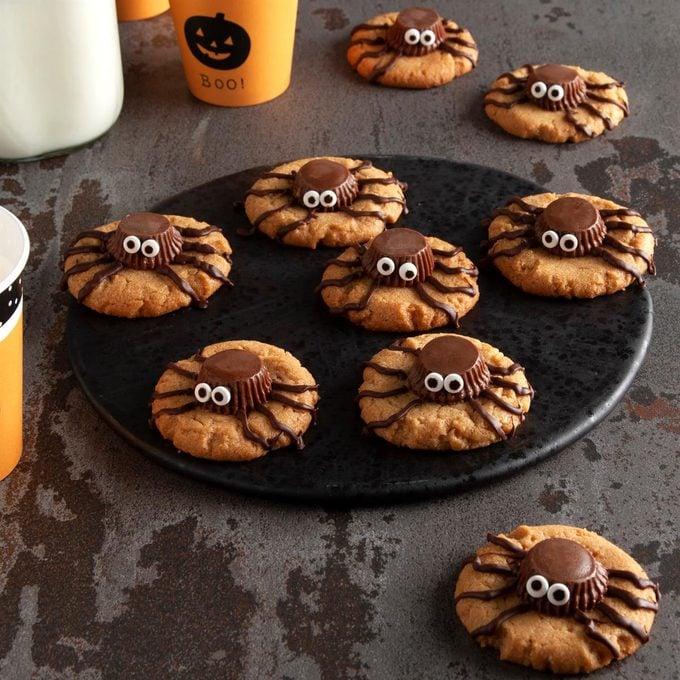 Halloween Peanut Spider Cookies