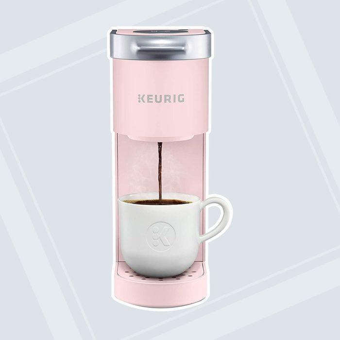 Keurig K-Mini Coffee Maker, Single Serve K-Cup Pod Coffee Brewer, 6 to 12 Oz. Brew Sizes, Dusty Rose