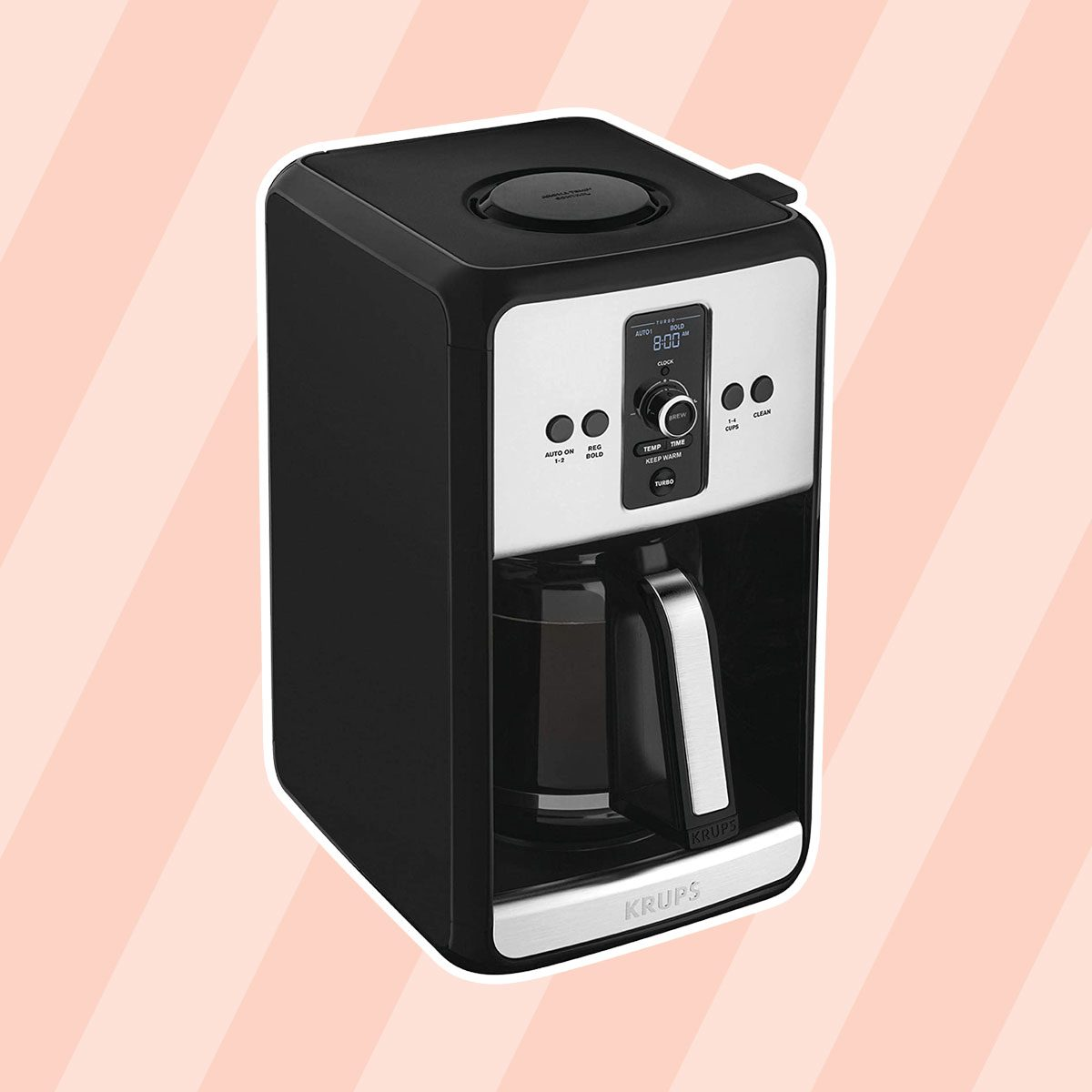 Krups Turbo EC411050 Savoy Black 12 Cup Programmable Coffee Maker