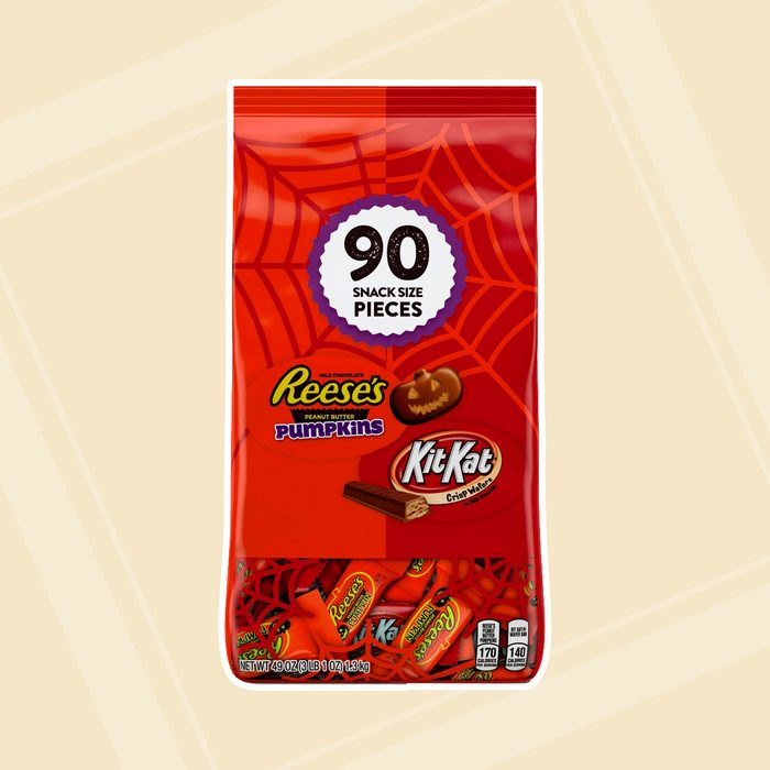 Reeses Pumpkin And Kitkat Snack Size Candy