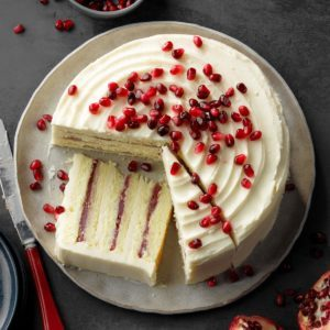 Spiced Pomegranate-Pear Cake