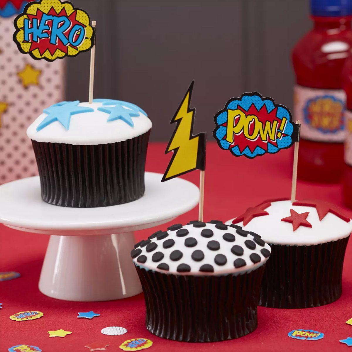20ct Comic Superhero Cupcake Picks