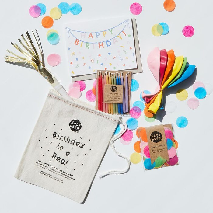 Birthday in a Bag   Confetti, Card, Balloons, Candles, and Party Horn