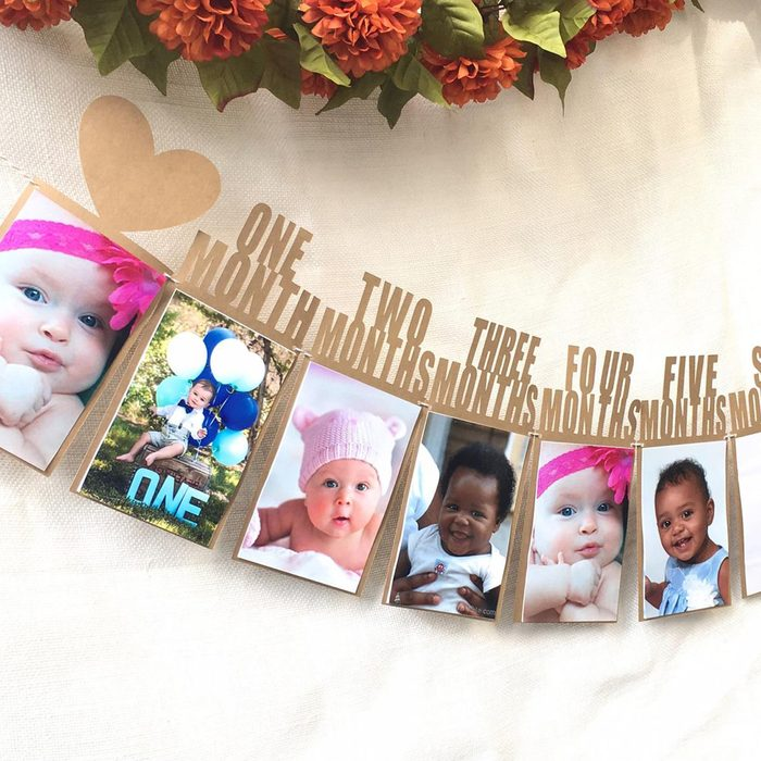 First Birthday Party Decorations Boy , First Birthday Photo Banner , First Birthday , One Year Bunting, Birthday Decor, Photo Banner, baby