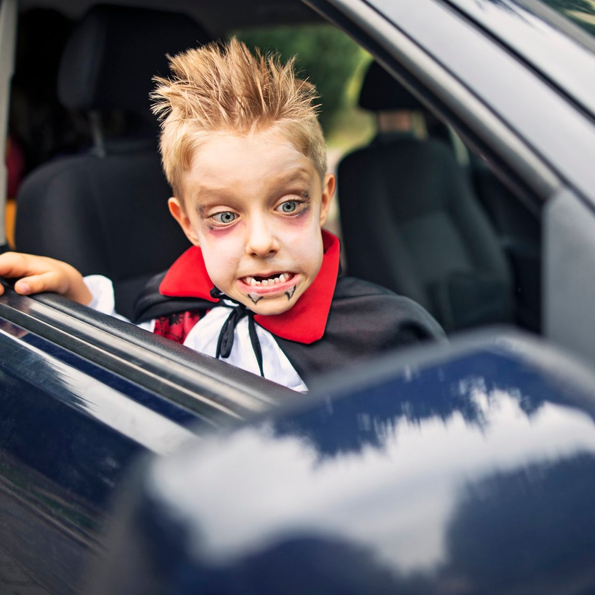 Drive-by trick-or-treating