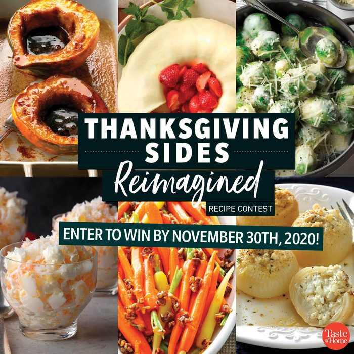thanksgiving sides reimagined recipe contests