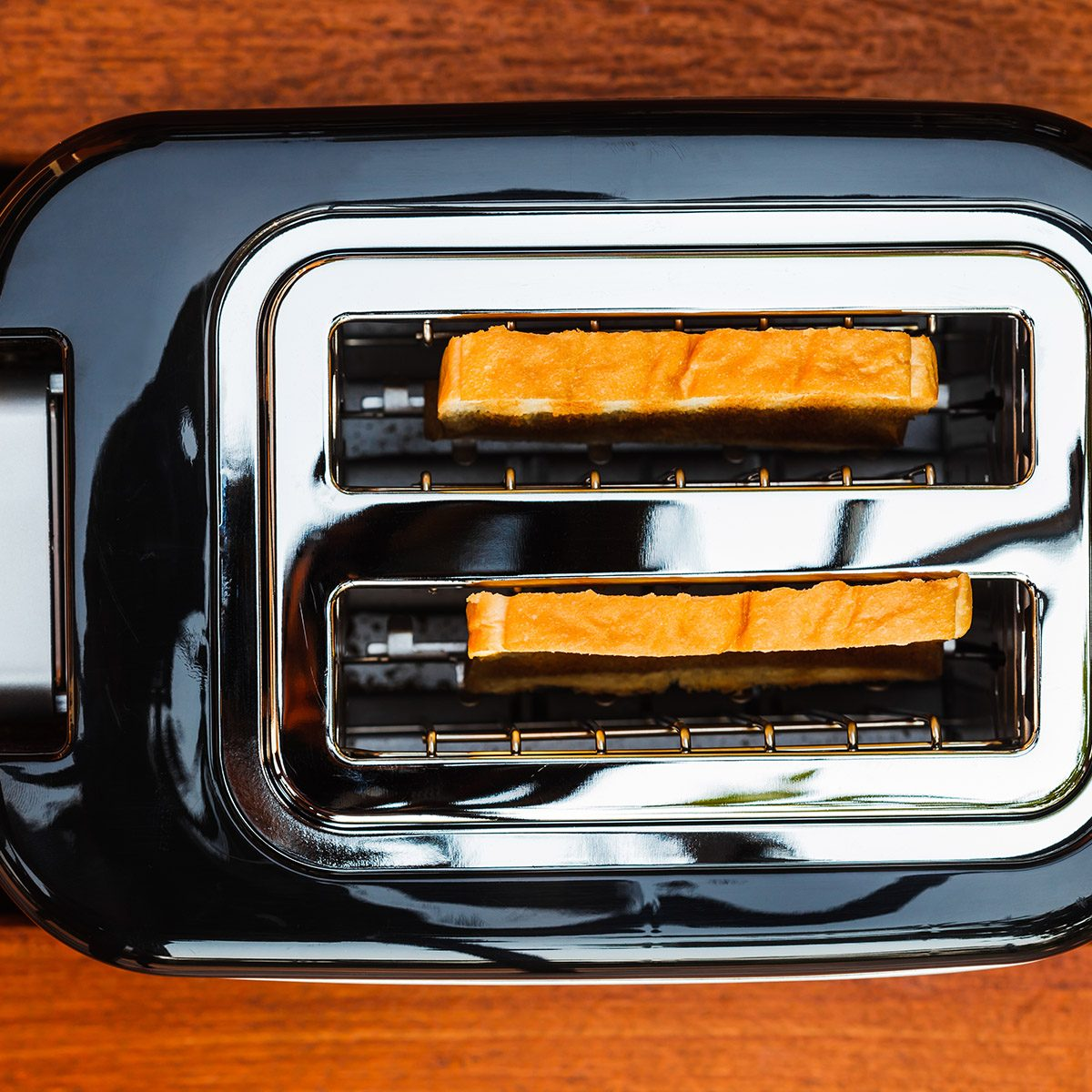 Directly Above Shot Of Toaster On Table