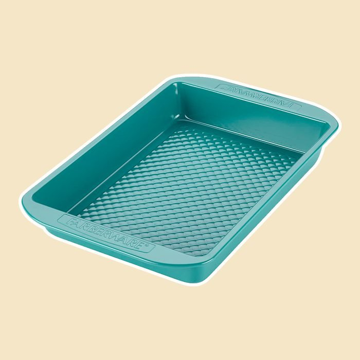 Farberware purECOok Hybrid Ceramic Nonstick Baking Pan / Nonstick Cake Pan, Rectangle - 9 Inch x 13 Inch, Blue