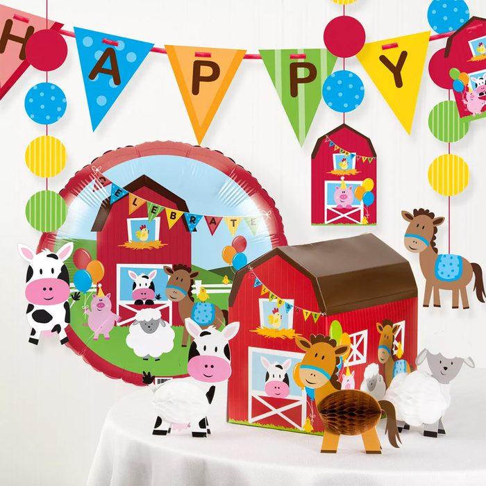 Farm Fun Birthday Party Decorations Kit
