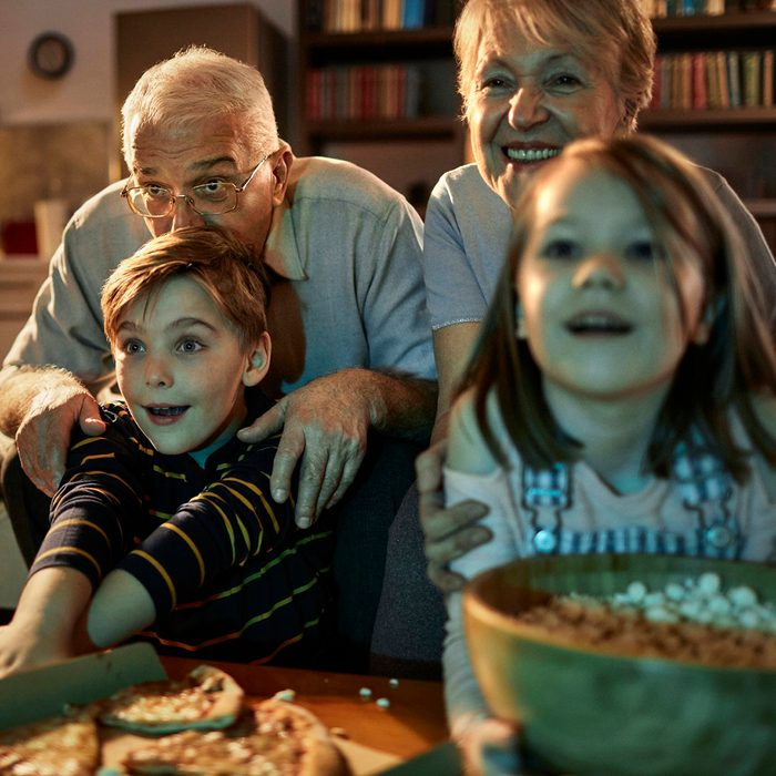 Scary-movie night with grandparents