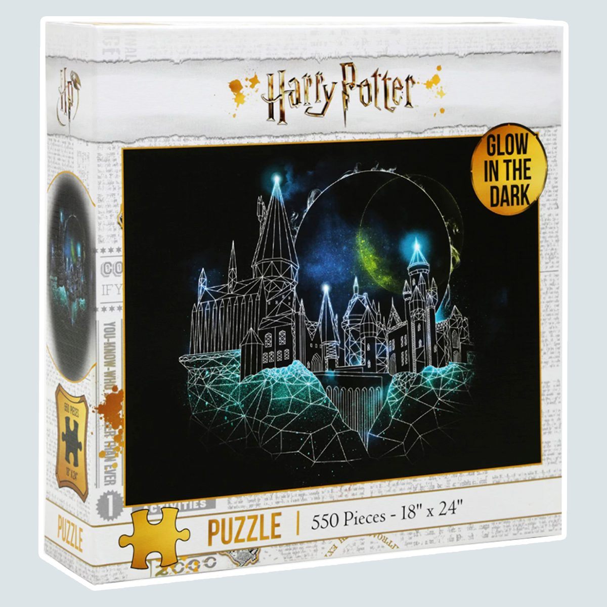 Harry Potter Glow-In-The-Dark Hogwarts Puzzle