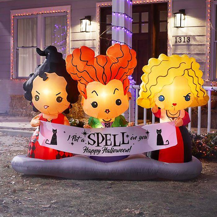 4.5 ft. Hocus Pocus Sisters Scene Airblown Halloween Inflatable