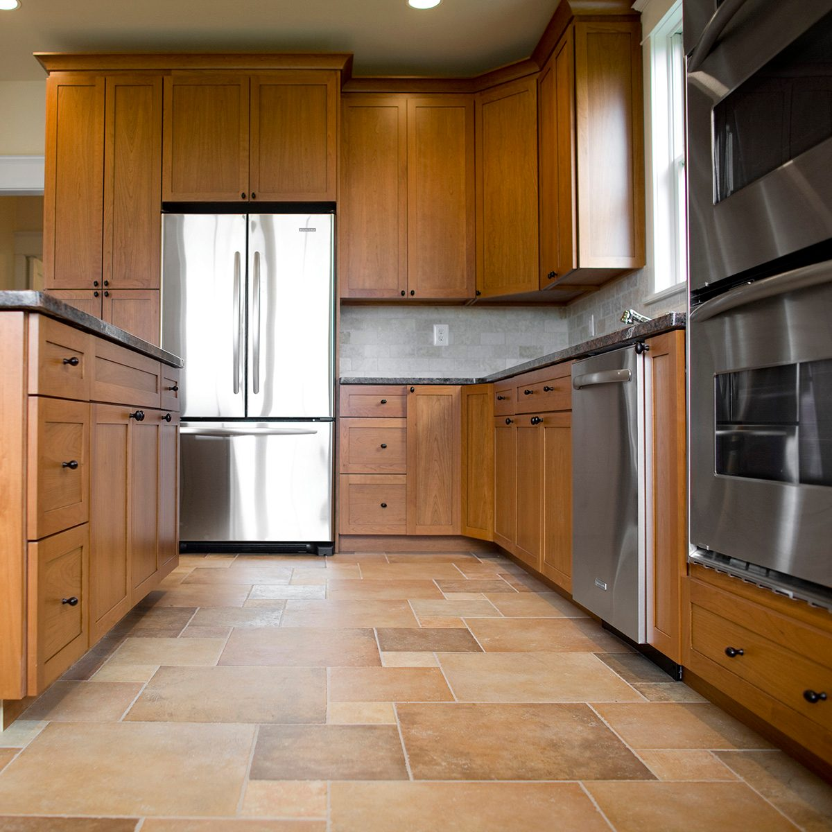 Kitchen in newly constructed house