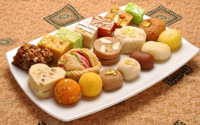 A group of delicious and famous Pakistani and Indian Sweets